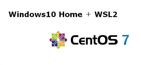 Windows10 Home+WSL2でLinux(CentOS7)を動かす
